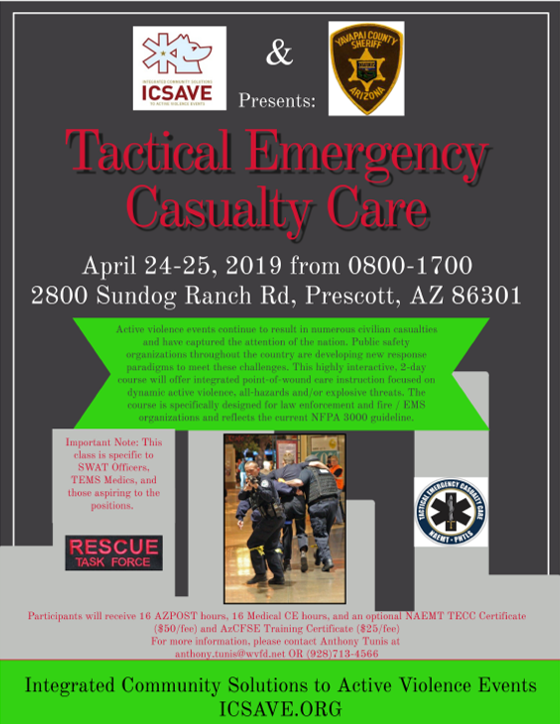 Yavapai County Tactical Emergency Casualty Care Course - ICSAVE